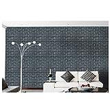重厚感のある レンガ調 壁紙 シール はがせる 3D 壁紙シール リアルで立体的な レンガ DIY 45cm×10m (No.1009)