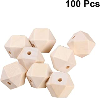 SUPVOX 100pcs DIY Wooden Craft Beads DIY Spacer Beads for Jewelry Making Charms Art Craft Project