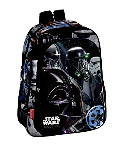 Montichelvo Star Wars Rogue One Mochila Infantil, 41 cm, Negro