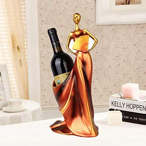 ANTONIDAS Coloque Las estatuillas Decorativas Adornos Modernista Minimalista Azul Take Fan Beauty Beauty Wine Decoration Creative Body Craft Estante de Vino Independiente (Color : Red)