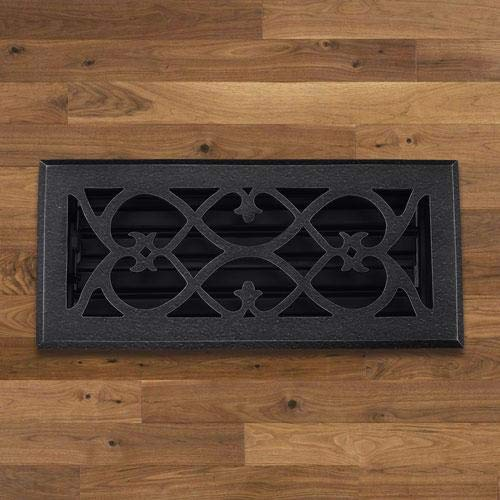 Magnus Home Products Decorative Cast Iron Floor Register, 2 1/4' x 10'