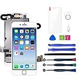 LWMTT Pantalla Tàctil LCD para iPhone 8 Blanco – Táctil Reemplazo Digital Conjunto Completo Recambio Herramientas para la Reparación, Vidrio Protector
