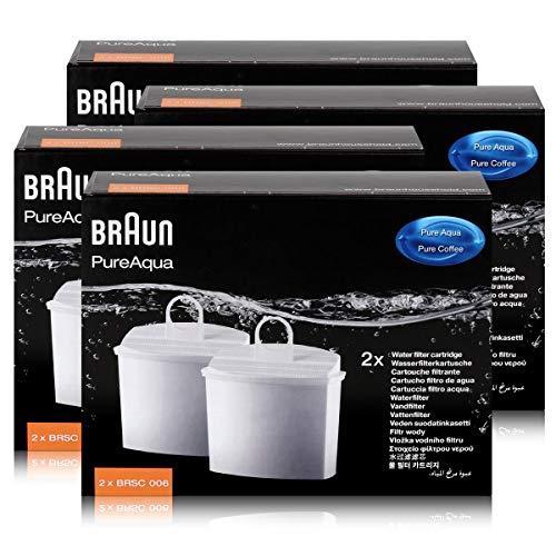 Braun PureAqua Wasserfilterkartusche BRSC006 - Wasserfilter (4er Pack)