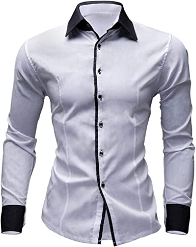 Camisas Casual Hombre Manga Larga, Covermason Camisa de ...