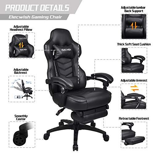 Surprising Elecwish Racing Video Gaming Chair Gaming Chairz Spiritservingveterans Wood Chair Design Ideas Spiritservingveteransorg