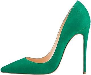 dba3e72e74 Kmeioo High Heels, Women's Pointed Toe High Heel Slip On Stiletto Pumps  Evening Party Basic
