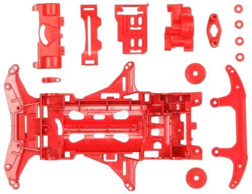 Mini 4WD Reinforced VS Chassis (Red) Mini 4WD Grade up Parts