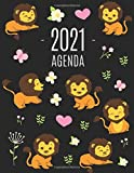 Leone Agenda 2021: Agenda di 12 Mesi con Calendario 2021 | Pianificatore Giornaliera
