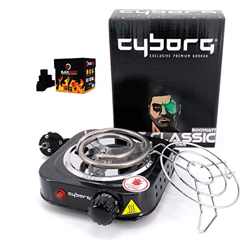 Cyborg Hookah Hot Classic Kohleanzünder 500W inklusive Kohlegitter + 1KG Blackcoco´s