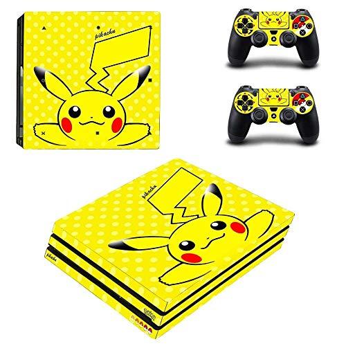 Pokemons Skins vinilo calcomanías Ps4 Pro pegatina para Playstation 4 Pro consola y 2 controladores juego pegatina protectora-Pikachus