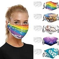 5枚入り マスク 洗える【MASZONE】かわいい 防寒フェイスマスク スポーツマスク プリント 柄 超快適 マスク 大人用 フィルターインサート 洗えるマスク 大人用 呼吸しやすい 伸縮性抜群 通気性抜群 かぜ用 花粉 UV対策 男女兼用 防塵マスク