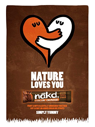 Nakd Bars, Cocoa Protein Crunch Raw Fruit and Nuts, Gluten Free, 18 Count