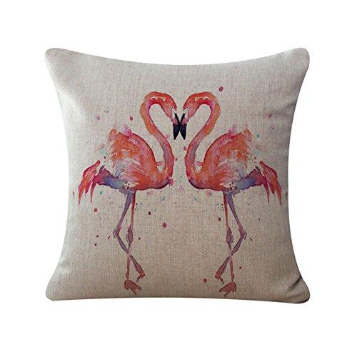 Vi.yo taie d'oreiller housse de coussin avec de beaux modèles de flamants roses pour la chambre à coucher Club Bureau canapé(style 7)