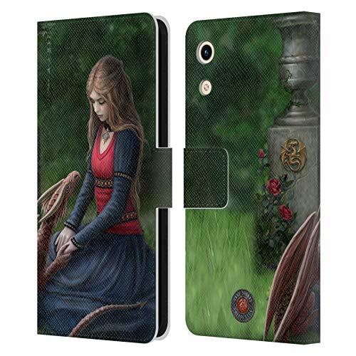 Head Hülle Designs Offizielle Anne Stokes Geheimer Garten Drachen Freudenschaft Leder Brieftaschen Handyhülle Hülle Huelle kompatibel mit Huawei Honor Play 8A