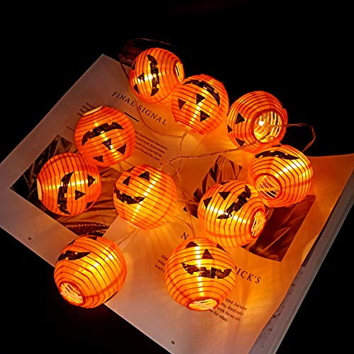 BABYCOW Solar Pumpkin String Light, with Waterproof Function, 8 Kinds Of Adjustable Garden Solar String Lights, Copper Wire Can Be Folded, Suitable for Halloween Decoration