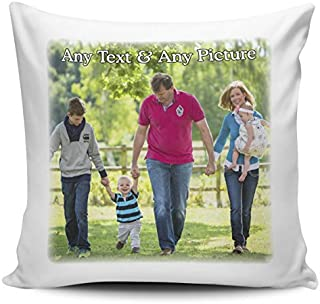 Decorative Pillow Cover Personalised Any Name & Any Picture Cushion Cover + Insert Pillow Case 18X18 Inches
