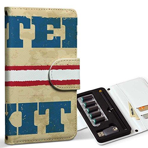 スマコレ ploom TECH プルームテック 専用 レザーケース 手帳型 タバコ ケース カバー 合皮 ケース カバー 収納 プルームケース デザイン 革 英語 ヴィンテージ 白 009182