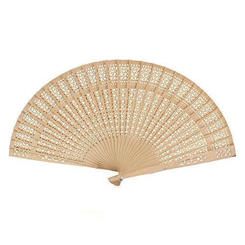 Abanico de mano con diseño de china, abanico de madera de sándalo,...