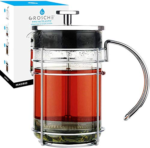 GROSCHE Madrid French Press Coffee Maker, Tea Press...