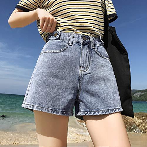SOWOEP Damen Jeansshorts Summer Mom Jeans Shorts Mit Hoher Taille Frau Plus Größe Kurz Blau Grau Beige Shorts Mit Weitem Bein Jeans
