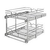 Rev-A-Shelf 5WB2-1822CR-1 18 x 22 Inch 2-Tier Wire Basket Pull Out Shelf Storage...
