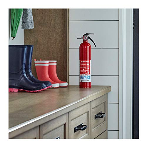 First Alert Rechargeable Home Fire Extinguisher with Mounting Brackets Bundle (4 Items)