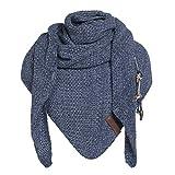 Basic.de Damen-Schal XXL Knit Factory Coco Oversize Strick, Melange Jeans/ Indigo, Einheitsgröße