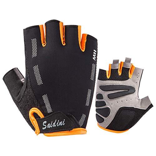 Guantes de ciclismo Medio dedo antideslizante gel guantes dedo guantes de montar en bicicleta MTB Road Mountain Bike Glove Sport