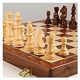 Olz 2 en 1 Conjunto de ajedrez magnético, Drafters de ajedrez FODILIZABLES Drafts y Backgammon Set para niños Adultos niños con Placa de Almacenamiento portátil Plegable,45x45cm