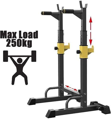 Squat rack stand regolabile bilanciere rack multifunzione squat sollevamento pesi ajh max 250kg home gym YX8515506
