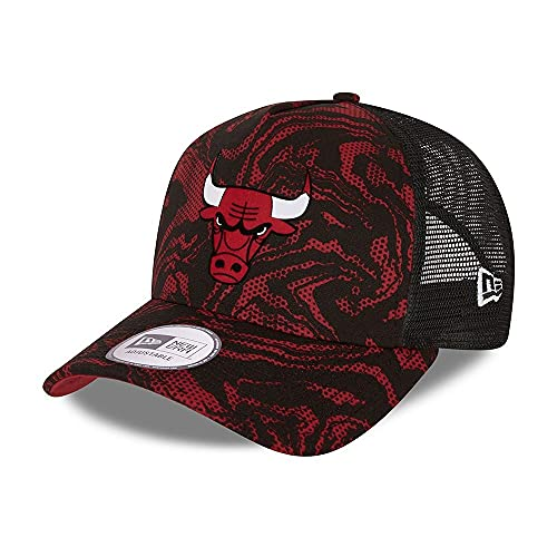 New Era Chicago Bulls NBA Cap Trucker Kappe verstellbar Basecap Snapback Basketball Camouflage Rot - One-Size