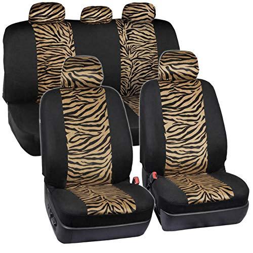 EET Fundas De Asiento De Automóvil 12 Piezas Universal Four Seasons Luxury Zebra Imprimir Cubierta De Asiento De Coche Acogedor Asiento Lavable Protector De Accesorios