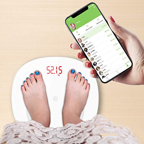 Bascula GrasaBáscula de grasa corporal Piso Científico Inteligente Electrónico Led Peso digital Báscula de baño Balance Bluetooth