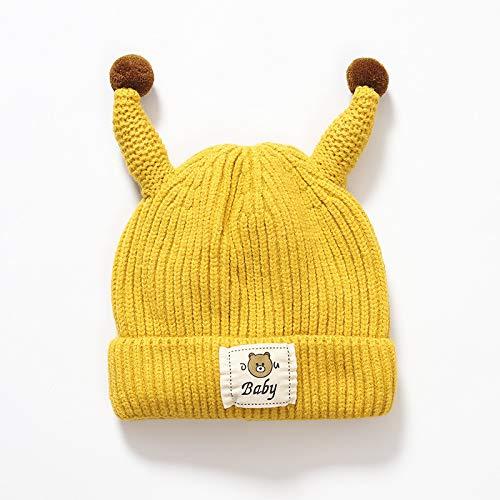 wopiaol Sombrero para niños Modelos de otoño e Invierno tentáculos de Dibujos Animados Coreanos Capucha Gorro de Lana para bebé protección para los oídos Gorro de Punto para bebé Engrosado