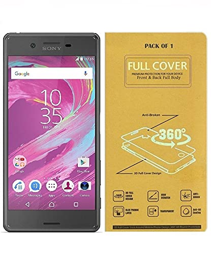 Blue Blood® 360° Buff Guard [Front + Back + Camera Lens] [Not Tempered Glass] Full Body Coverege Screen Protector for Sony Xperia X − List 1149