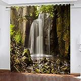 XDJQZX Cortinas para niños para dormitorio 3D Rock Falls Natural Landscape Impreso 79 x 63 pulgadas, 2 paneles aislados térmicos y reducción de ruido, cortinas para salas de estar/guardería con ojales
