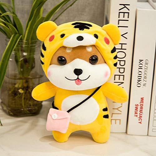 N / A Cute Shiba Inu Turn to Elk Crocodile Pig Plush Toys kawaii Standing Animal Dog Plush Dolls Stuffed Toys for Child 28CM