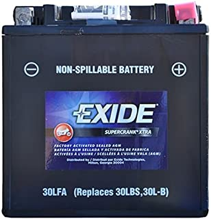 Exide Technologies SC30LFA Motorcycle Battery