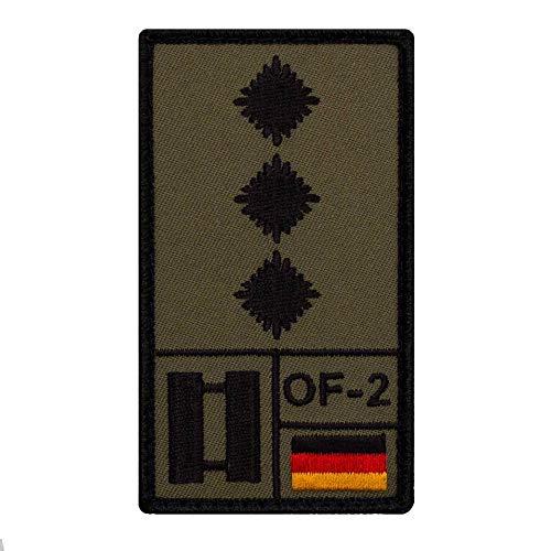 Café Viereck ® Hauptmann Bundeswehr Rank Patch mit Dienstgrad - Gestickt mit Klett – 9,8 cm x 5,6 cm
