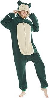 Unisex Adult Flannel Cosplay Pajamas Cartoon Animal Halloween Onesie Sleepwear