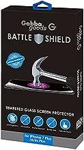 GabbaGoods Battle Shield Tempered Glass- Premium Shatter Resistant, Anti-Fingerprint Screen Protector for Apple iPhone 6 PLUS / 7 PLUS / 8 PLUS - Clear