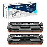 LCL Cartucho de tóner Compatible 054 CRG054 CRG-054 3023C0021 (2-Pack Negro) Reemplazo para Canon i-SENSYS LBP621cw 623cw MF643CDW MF645CX MF640C MF641CW MF642CDW MF643CDW MF644CDW