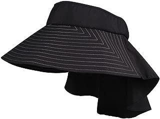 Wide Brim Black Taslon UV Packable Visor