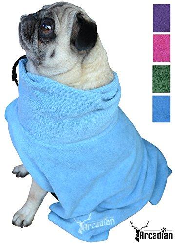 Vestimenta de microfibra para perro, de Arcadian, en azul y rosaEl regalo...