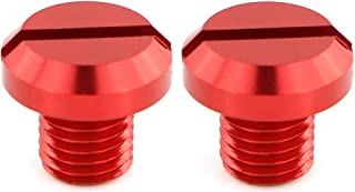 Xitomer 2 PCS M10x1.25 Mirror Hole Plugs, For HONDA NC750S MT/ CB1000R/ Grom MSX125, KAWASAKI Z250SL/ Z400/ Z125, TRIUMPH Speed Triple 1050, KTM, SUZUKI, YAMAHA, DUCATI, Aluminum CNC (Red)