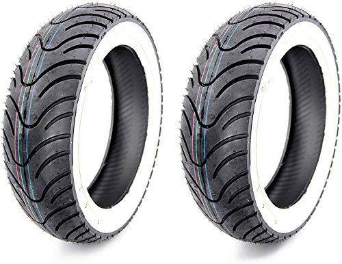 Juego de 2 neumáticos Kenda de pared blanca K413 120/70-12 pulgadas, 58 L.