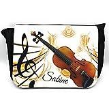 Notentasche Dokumententasche Schultasche – für Violine/Geige, gerne auch mit Namen personalisiert. Prima Geschenkidee. Weihnachtsgeschenk.
