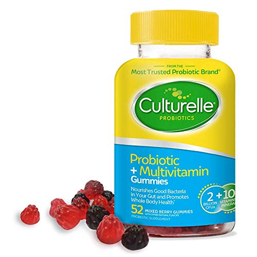 Culturelle Probiotic + Multivitamin Gummies for Adults - Supports Immune Health + Promotes Digestive Health - with Vitamin C, Vitamin D & Zinc - 52 CT