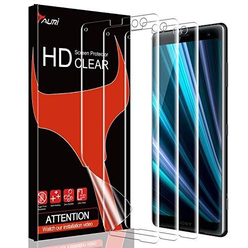 TAURI [3 Stück Schutzfolie für Sony Xperia XZ3, XZ3 Bildschirmschutzfolie [Blasenfreie] [Klar HD] Weich TPU Folie