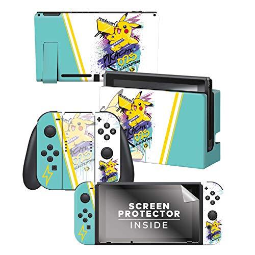 "Controller Gear Officially Licensed Nintendo Switch Skin & Screen Protector Set - Pokémon - ""Skate Pikachu"" Set 2"